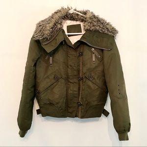 Kids Army Green Unisex Bomber Jacket